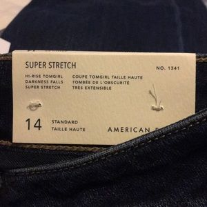 American eagle tom girl jeans super stretch